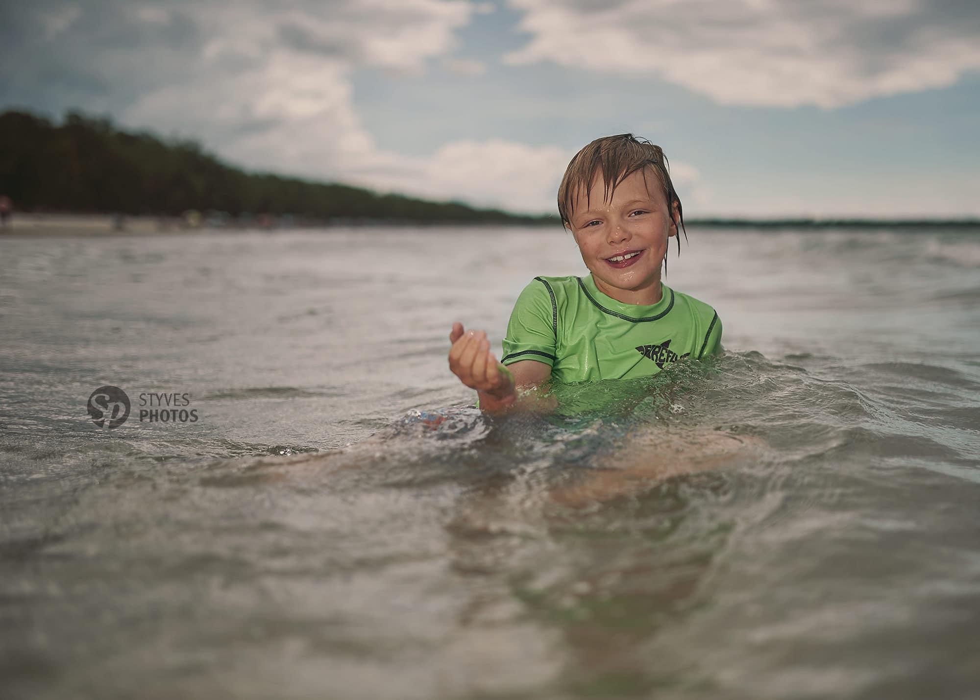 boy beach portrait
