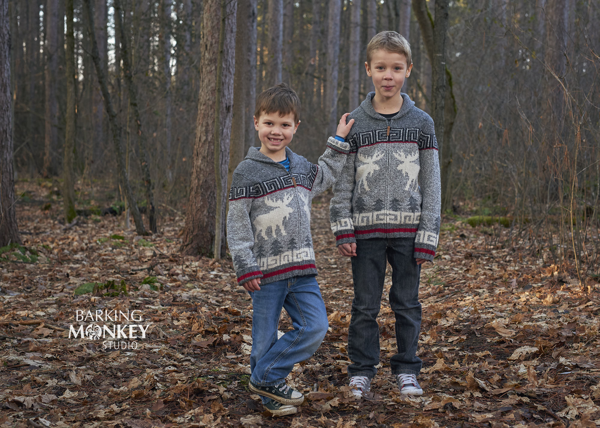 Boys Brothers Children Family Portrait Ottawa Kemptville