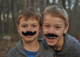 brothers fun family portrait goofball moustache ottawa kemptville
